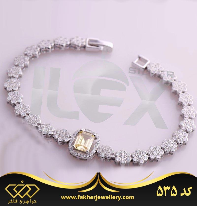 دستبند جواهری فلاور کد 535
