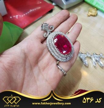 مدال سلطنتی یاقوت قرمز سه طبقه کد 536