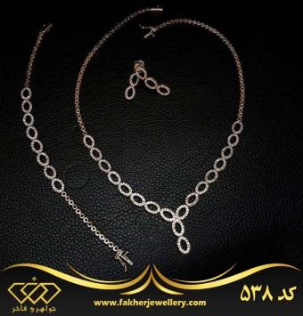 سرویس جواهری نقره طرح طلا کد 538