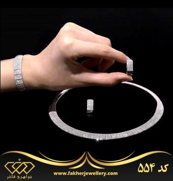 سرویس نقره جواهری طرح طلا کد 554
