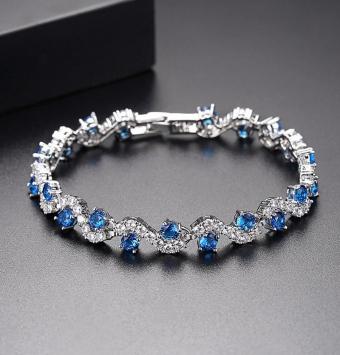 دستبند نقره زنانه نگین دار