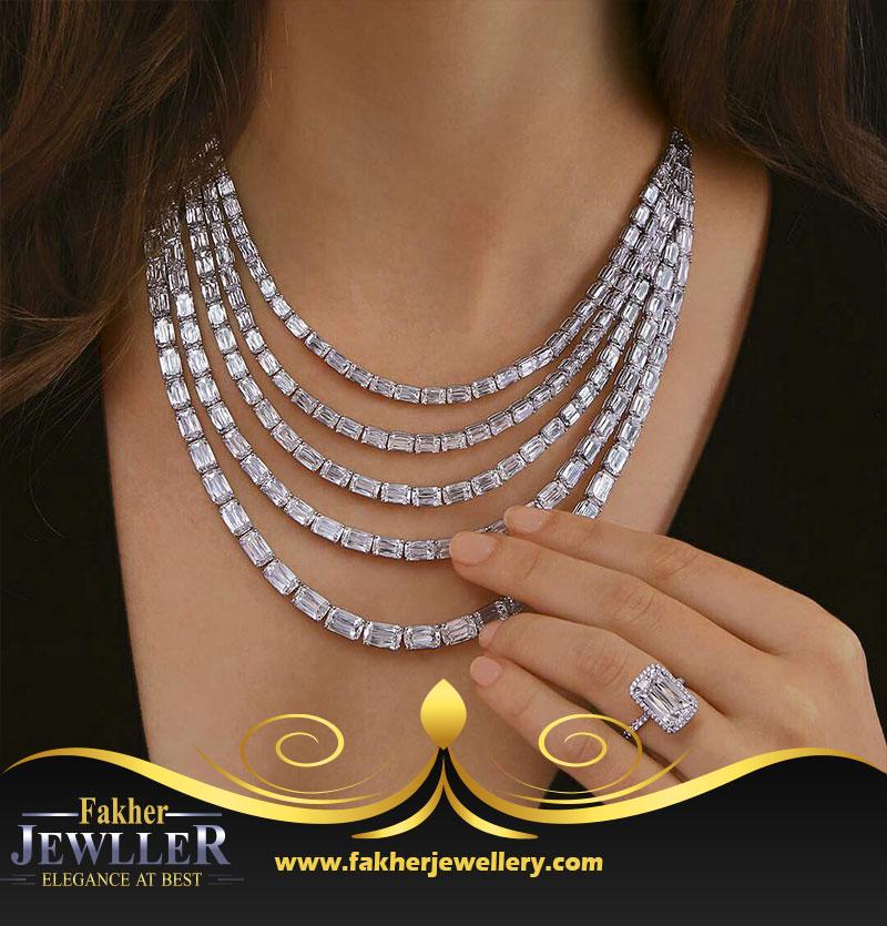 گردنی جواهر نمونه ژورنال gold