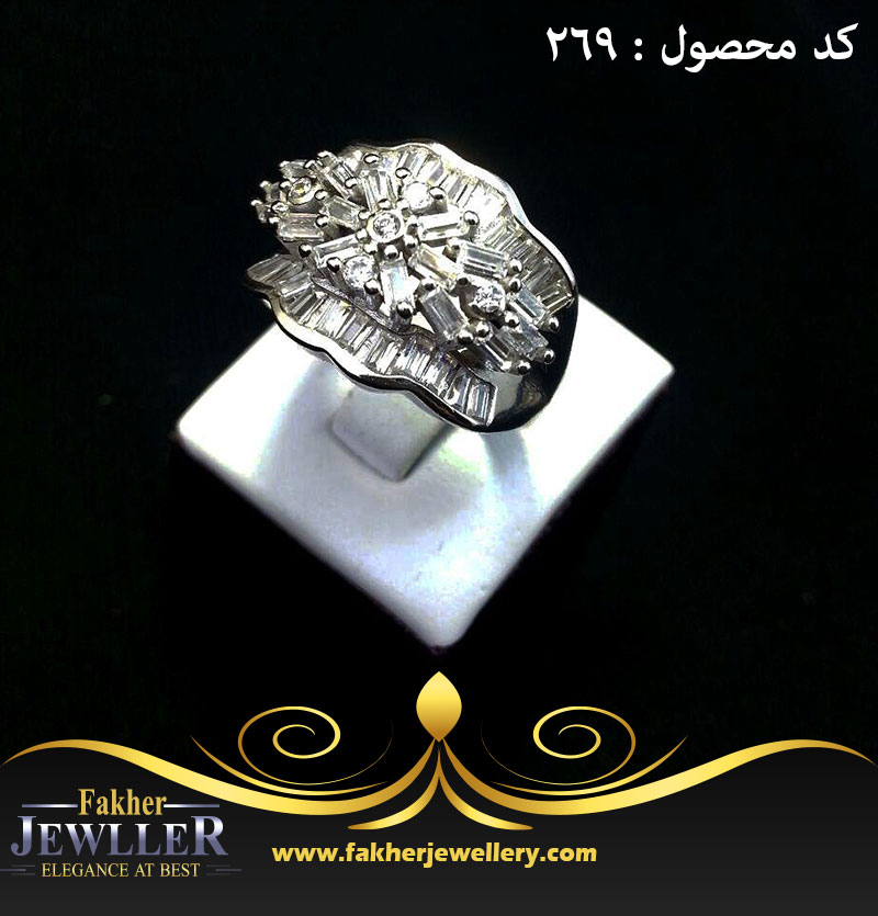 انگشتر زنانه جواهری انتیک باگد کد 269
