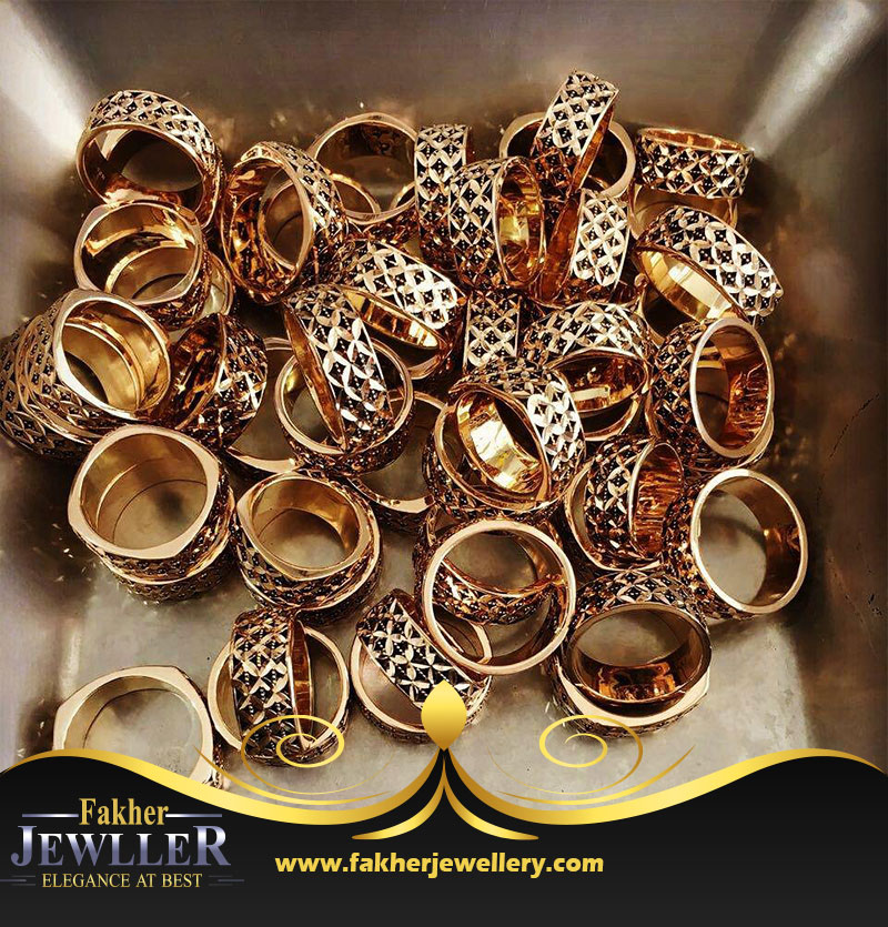 انگشتر طلا زنانه طرح گندمی طلا