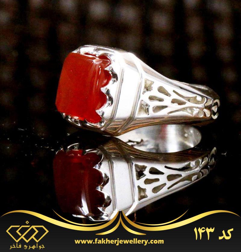 انگشتر مردانه عقیق یمنی اصل کد143