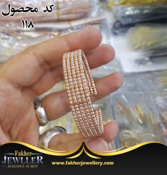 دستبند تراش الماسی طرح طلا ایتالیایی کد118