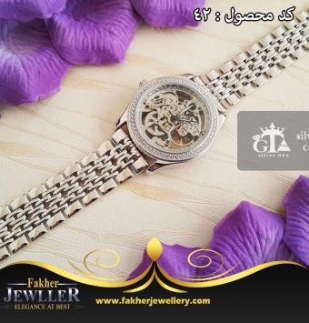 ساعت نقره جواهری انتیک کد42