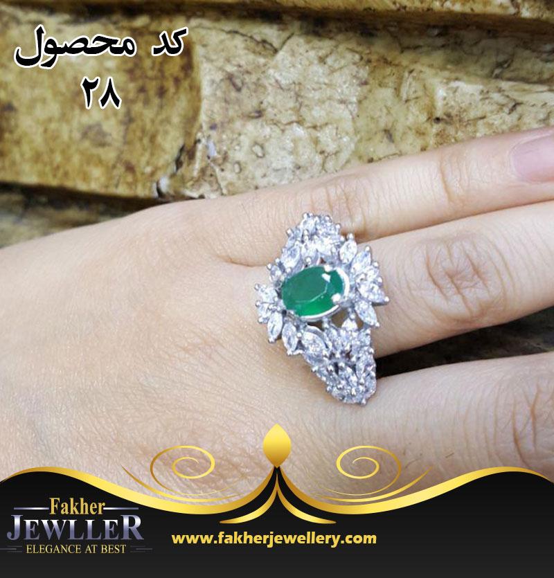 انگشتر زنانه انتیک جواهری مارکیزی کد28