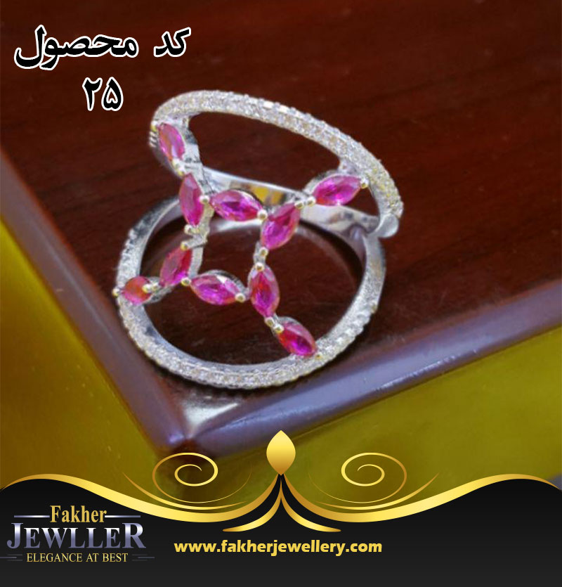 انگشتر انتیک جواهری مارکیزی کد 25