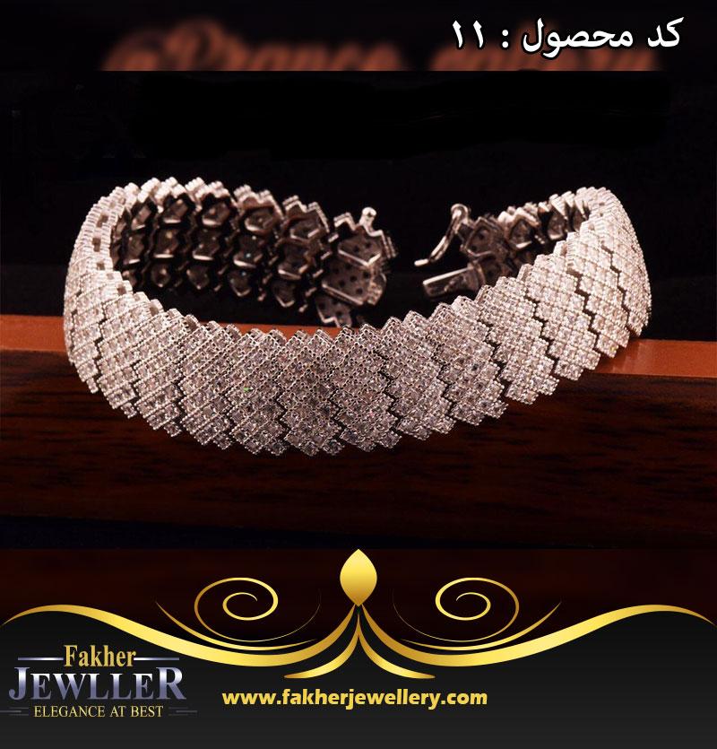 دستبند جواهری بسیار زیبا کد11