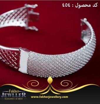 دستبند نقره پرنس کد 454