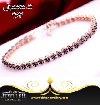 دستبند جواهری بسیار زیبا کد 463