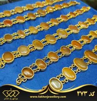 دستبند عقیق یمنی اصل کد 473