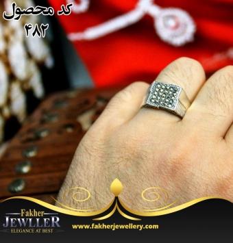 انگشتر مردانه مارکازیت اصل کد 482