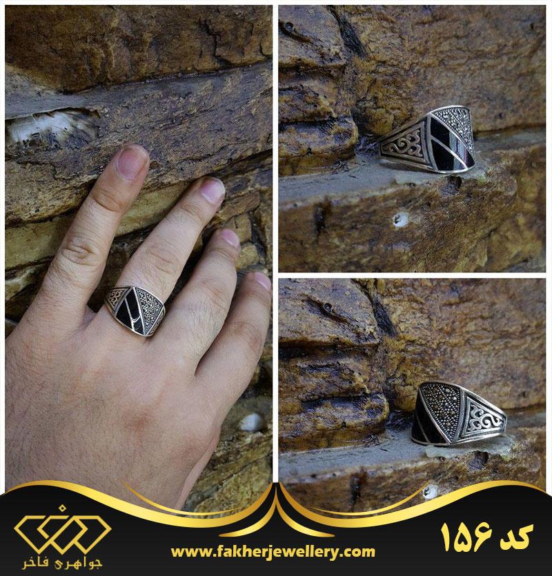 انگشتر اسپرت مارکازیت الماس تراش کد 156