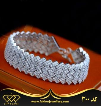 دستبند جواهری نقره کد 300