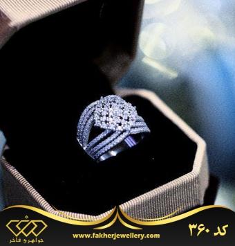 انگشتر جواهری طرح طلا کد 360