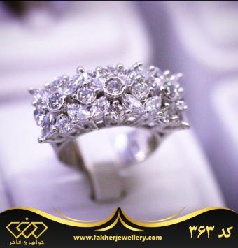 انگشتر جواهری فلاور کد 363