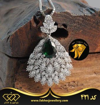 مدال جواهری تک زیبا کد 421