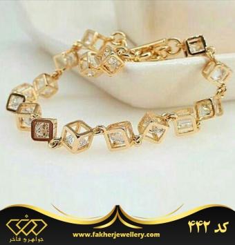 دستبند جواهری مکعبی کد 442