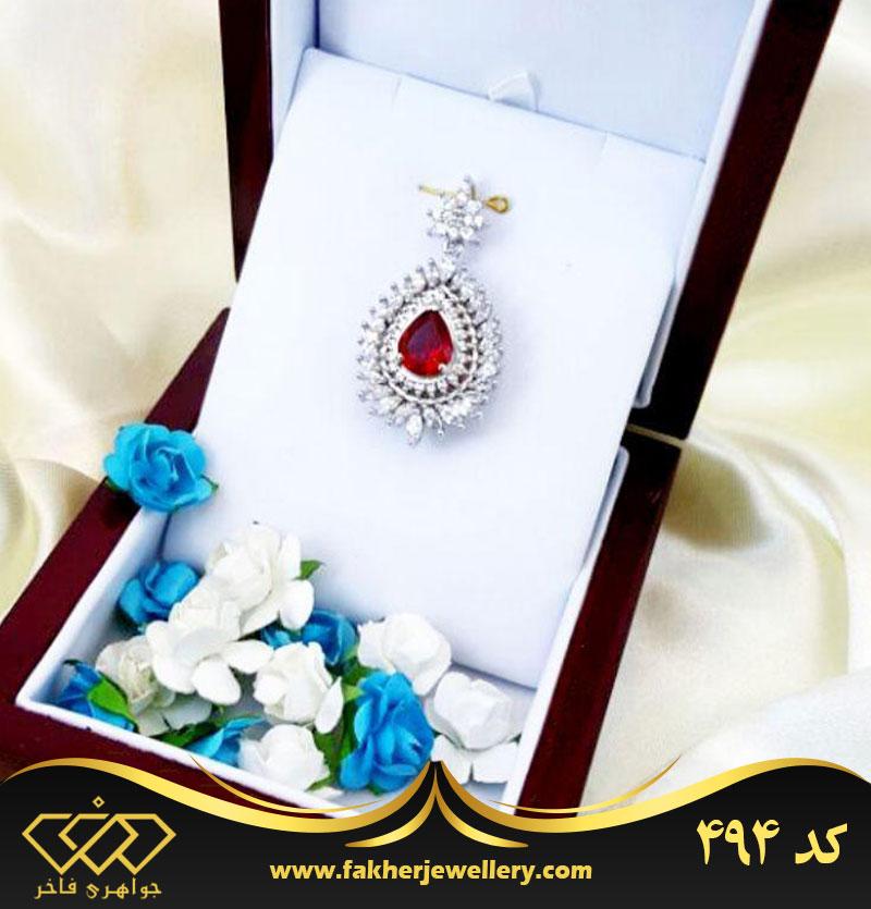 مدال جواهری یاقوت سرخ اتم کد 494