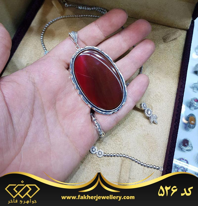 مدال عقیق دست ساز کد 526