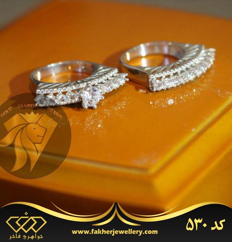 انگشتر جواهری پشت حلقه کد 530