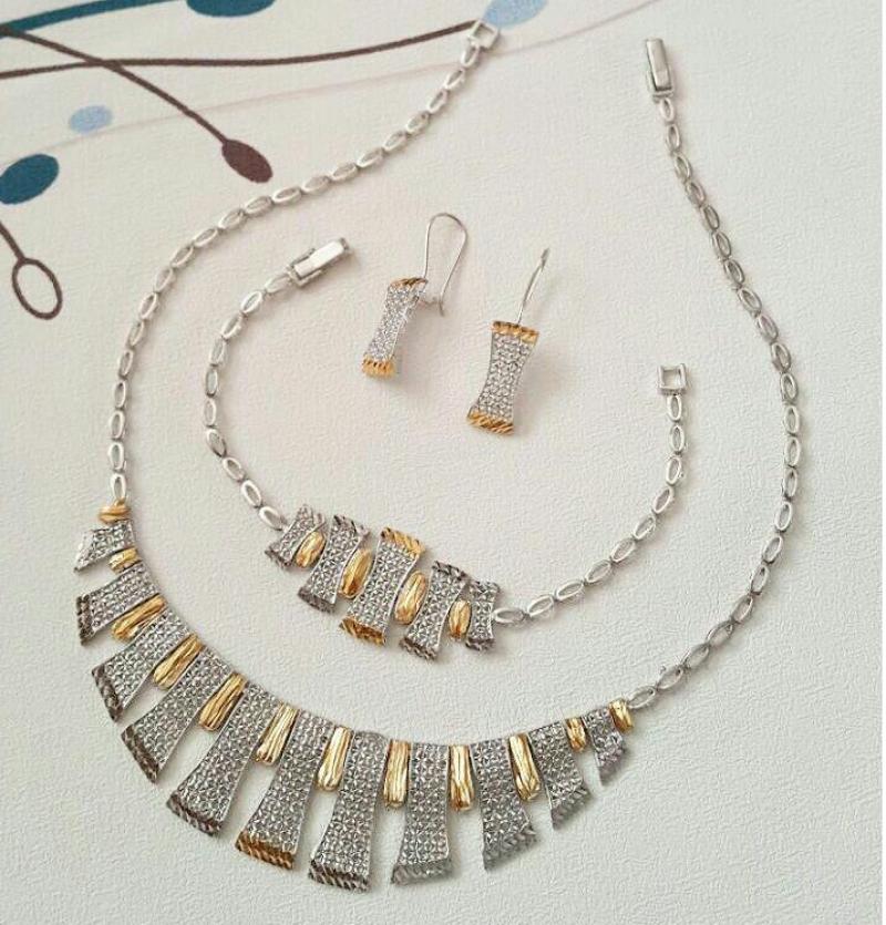 سرویس جواهرات تراش طرح طلا