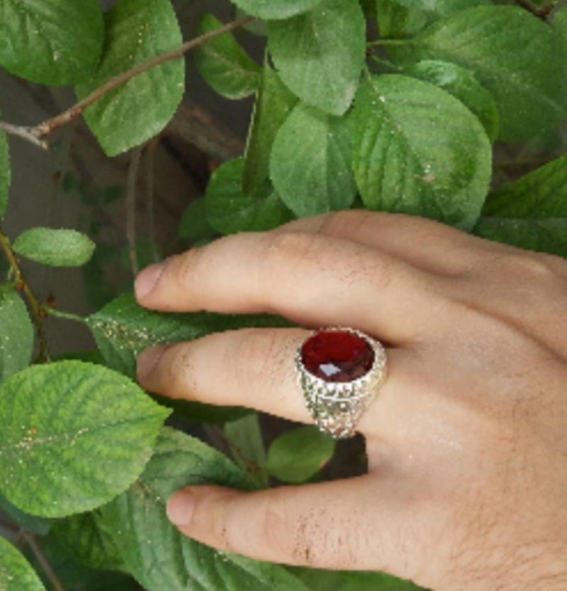 انگشتر مینیاتوری یاقوت رنگ زیبا