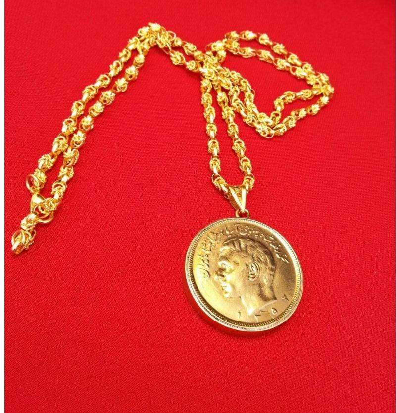 مدال سکه  زنجیر یزدی زیبا