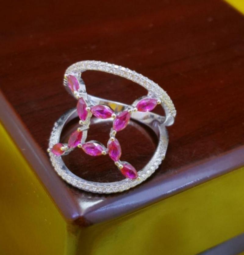 انگشتر  انتیک جواهری مارکیزی