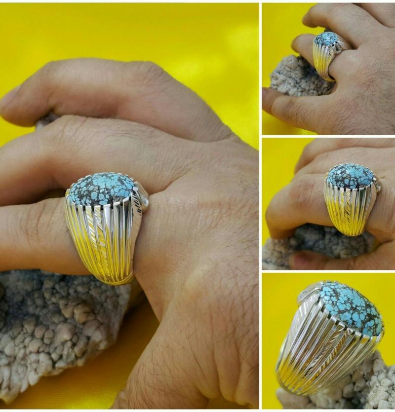 انگشتر زیبا فیروزه اصل نیشابور شجری
