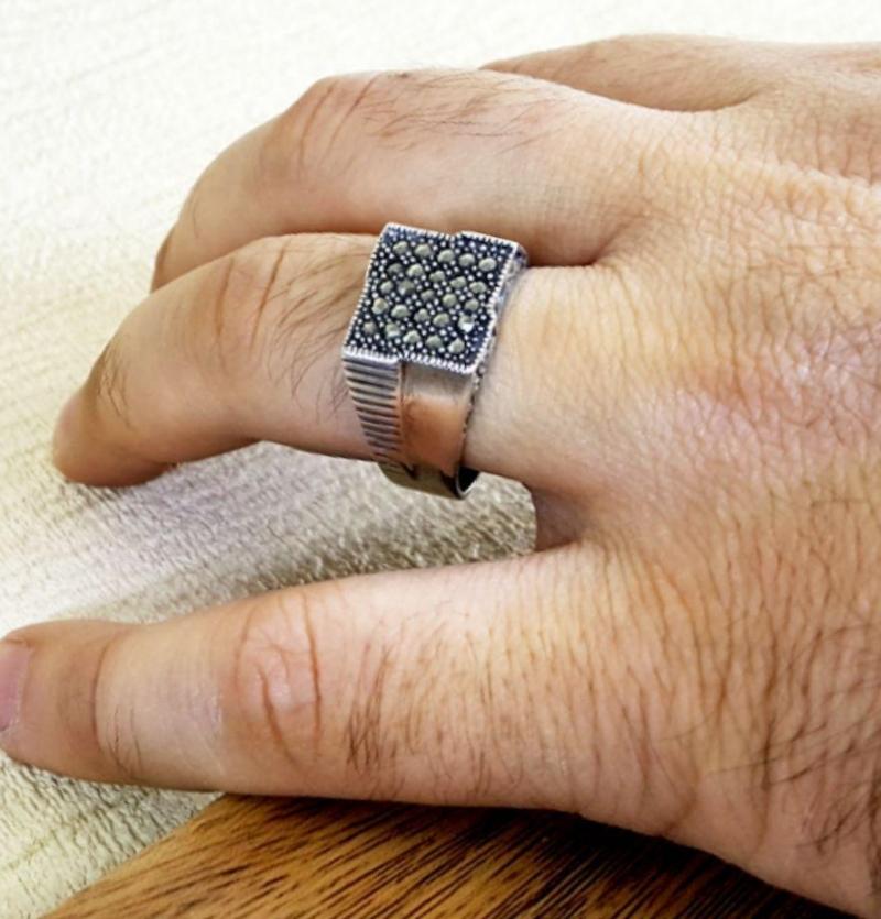 انگشتر مردانه  نفیس مارکازیت